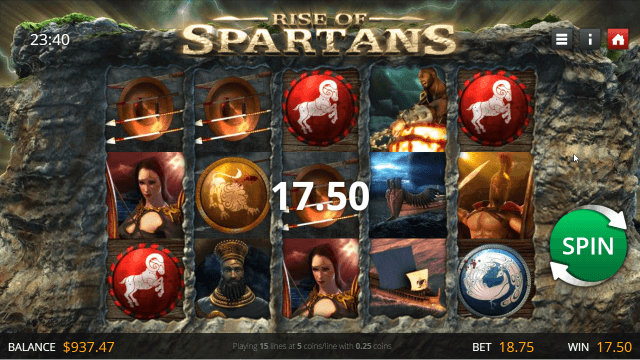 Характеристики слота Rise Of Spartans 9
