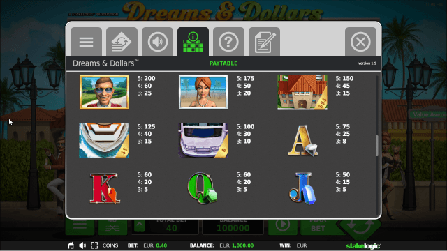 Бонусная игра Dreams And Dollars 3