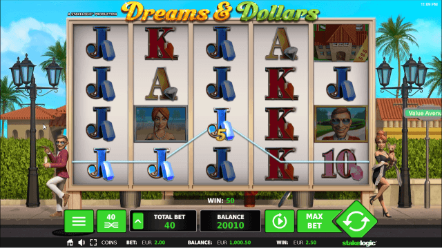 Бонусная игра Dreams And Dollars 6