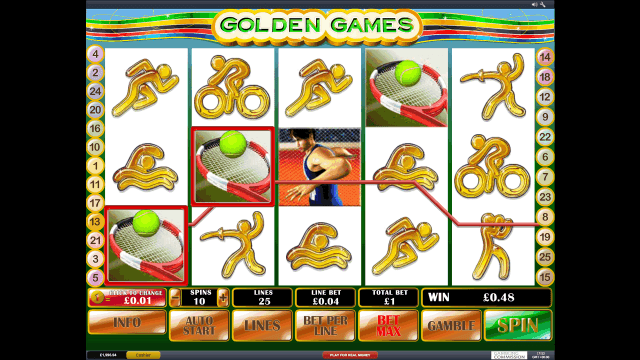 Характеристики слота Golden Games 8